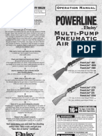 Daisy Powerline Air Rifle Operation Manual