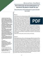 Descontinuação de benzodiazepínico no transtorno de pânico - estudo de caso