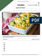 La Pasta e Broccoli (Al Gratin) - La Repubblica