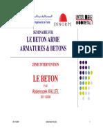 LE BETON PAR Abderrazek KALLEL