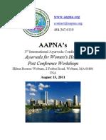 AAPNA 2011 Post Conference Program Guide