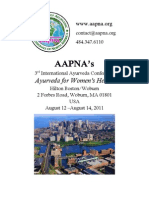 AAPNA Conference 2011 Program Guide