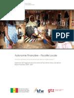 Autonomie Financière – Fiscalite Locale