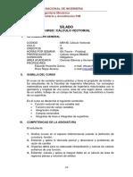 1 MB148- SILABO 2021 I Calculo Vectorial