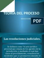 pp teoria del proceso 4 resoluciones judiciales