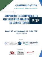 Appel Communication Journ Es PME Et Territoires Corte Vf