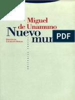 Unamuno, Miguel (1994) - Nuevo mundo