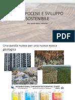 Antropocene e Sviluppo Sostenibile