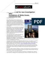 02-05-08 RawStory-911 Widows Call for New Investigation Afte