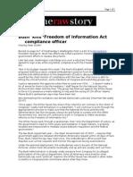 02-06-08 RawStory-Bush 'Kills' Freedom of Information Act Co