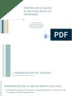 Termómetro de la Salud Mental en Chile - Tercera Ronda. PUC-ACHS