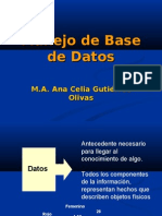 Manejo de Base de Datos
