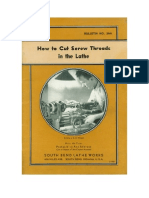 1936 - How to Cut Screw Threads in the Lathe - Bulletin 36A