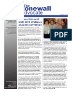 Stonewall Democrats of Dallas Newsletter - March 2011