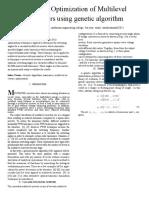 Harmonic Optimization of Multilevel Converters using genetic algorithm
