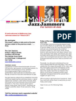 Jazz Jammers enews 9 March 2011