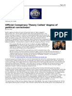 02-29-08 OEN-Official Conspiracy Theory Called 'dogma of pol