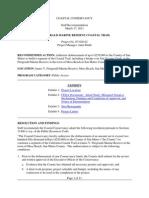 Coastal Conservancy Staff Recomendations