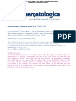 Alteraciones Hemostáticas en COVID19
