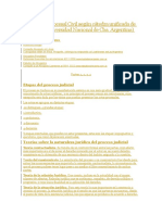 Apuntes de Procesal Civil según cátedra unificada de la U