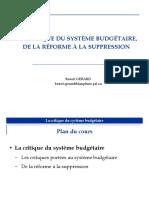 2. La critique du système budgétaire
