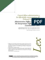 Control difuso administrativo y las dificultades interpretativas del Tribunal Constitucional_Lay
