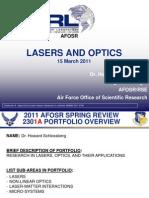 2. Schlossberg - Lasers and Optics
