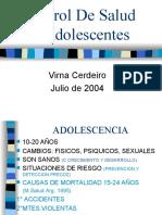 Control De Salud En Adolescentes