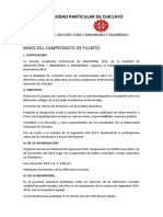 BASES DEL CAMPEONATO DE FULBITO Y VOLEY