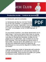 L'article de journal DELF B1 - production écrite
