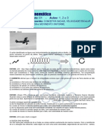 CINEMÁTICA – LISTA 1 - A1-Conceitos iniciais_ A2-Vm_ A3-MU - Plataforma FINAL