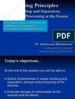 4- Waste handling and separation, storage and processing at the source