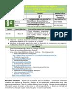 Guía N° 3 Matematica Grado 8°