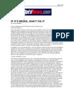 01-29-08 Opednews-If It's Broke, Don't Fix It by Teresa Blak