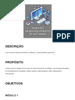 Fases do Desenvolvimento de Software