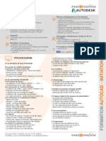 Fiche Formation AutoCAD Initiation 1