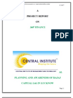 A Project Report on 360 Degree Fiancial Planning