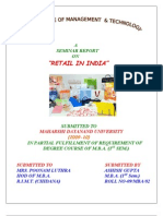 A Seminar Report on Retail in INDIA
