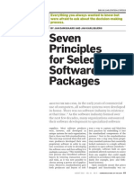 Seven Principles for Selecting Software Packages