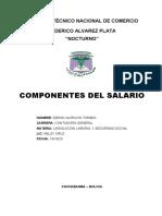COMPONENTES DEL SALARIO