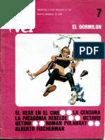 """Revista """"Filmar y ver"""" número 7 de 1974"""