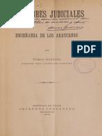 TOMAS GUEVARA Costumbres Judiciales y Enseñanza de Los Araucanos.