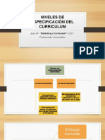5- Niveles de Especificación Del Curriculum