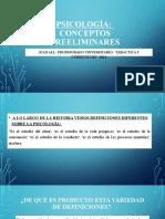 7- PSICOLOGÍA- CONCEPTOS PREELIMINARES