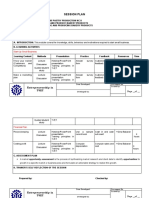 Session Plan Template