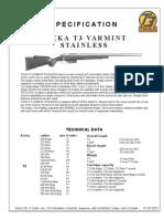 Tikka T3 Varmint Stainless