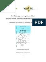 Identifying gaps in emergency sanitation, design of new kits to increase effectiveness in emergencies, workshop 22-23 Feb 2011