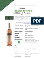 Vinho Branco Camille 2010 - Domaine Turenne - Côtes de Provence