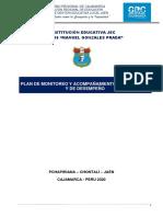 Plan de Monitoreo y Acompañamiento Pedagogico- 2021