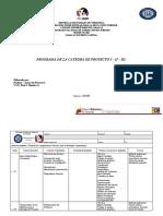 Programa de La Catedra de Proyecto I - II - III.[ 4